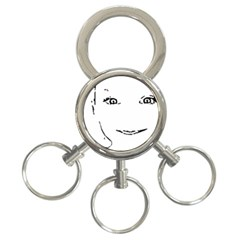 Portrait Black And White Girl 3-Ring Key Chains