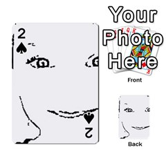 Portrait Black And White Girl Playing Cards 54 Designs