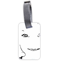Portrait Black And White Girl Luggage Tags (Two Sides)