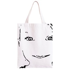 Portrait Black And White Girl Classic Light Tote Bag