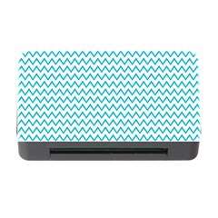 Blue White Chevron Memory Card Reader with CF