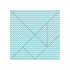 Blue White Chevron Acrylic Tangram Puzzle (4  X 4 )