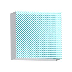 Blue White Chevron 4 x 4  Acrylic Photo Blocks