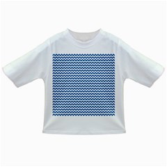 Dark Blue White Chevron  Infant/Toddler T-Shirts