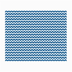Dark Blue White Chevron  Small Glasses Cloth (2-Side)