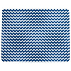Dark Blue White Chevron  Jigsaw Puzzle Photo Stand (Rectangular)