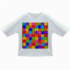 Funny Colorful Puzzle Pieces Infant/Toddler T-Shirts