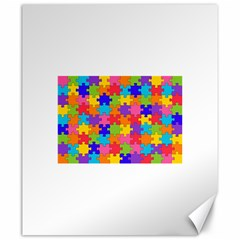 Funny Colorful Puzzle Pieces Canvas 20  x 24