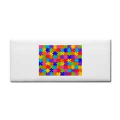 Funny Colorful Puzzle Pieces Hand Towel