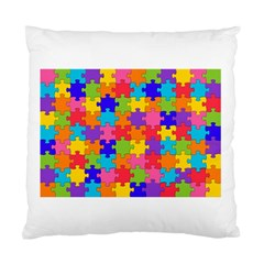 Funny Colorful Puzzle Pieces Standard Cushion Case (One Side)