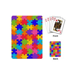 Funny Colorful Puzzle Pieces Playing Cards (Mini)