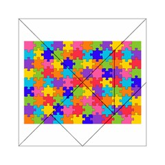 Funny Colorful Puzzle Pieces Acrylic Tangram Puzzle (6  x 6 )