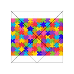 Funny Colorful Puzzle Pieces Acrylic Tangram Puzzle (4  x 4 )