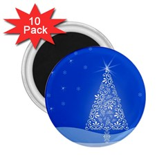 Blue White Christmas Tree 2.25  Magnets (10 pack)