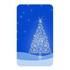 Blue White Christmas Tree Memory Card Reader