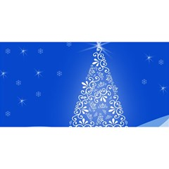 Blue White Christmas Tree You Are Invited 3d Greeting Card (8x4)
