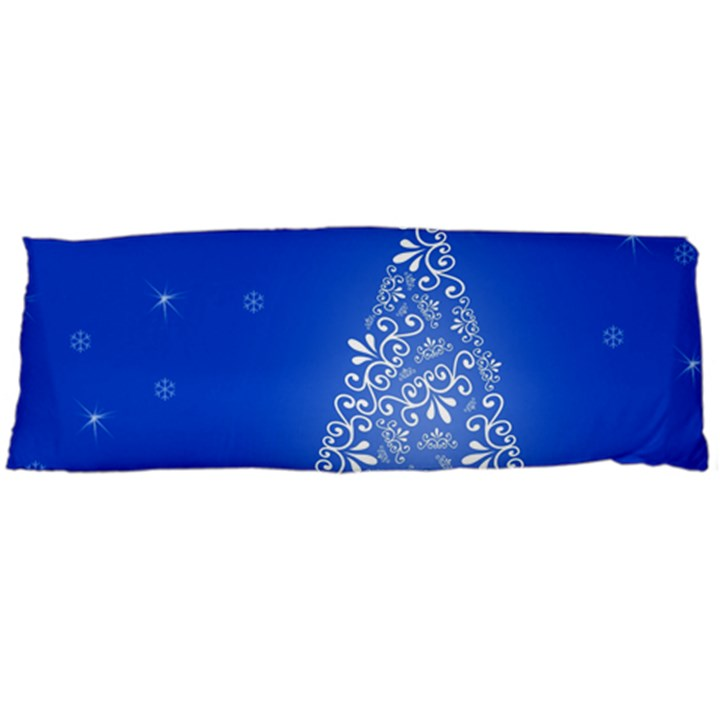 Blue White Christmas Tree Body Pillow Case Dakimakura (Two Sides)