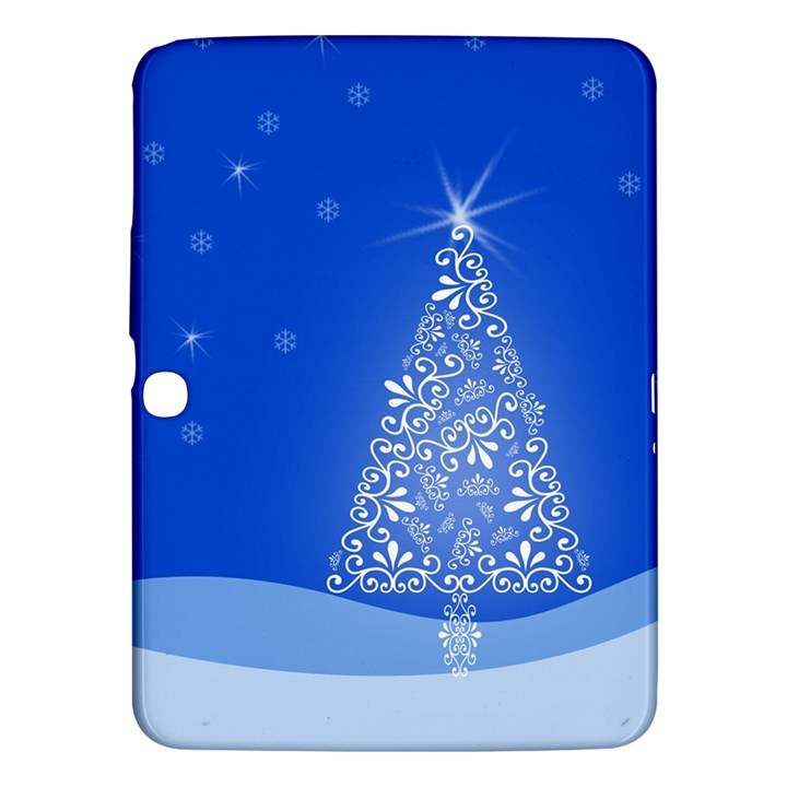Blue White Christmas Tree Samsung Galaxy Tab 3 (10.1 ) P5200 Hardshell Case