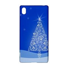 Blue White Christmas Tree Sony Xperia Z3+