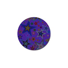 Purple Christmas Party Stars Golf Ball Marker (4 pack)