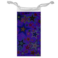 Purple Christmas Party Stars Jewelry Bags