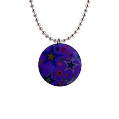 Purple Christmas Party Stars Button Necklaces