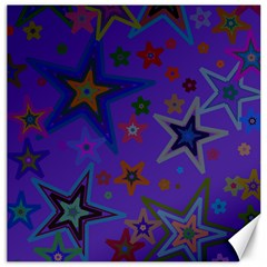 Purple Christmas Party Stars Canvas 20  x 20