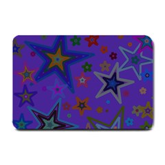 Purple Christmas Party Stars Small Doormat