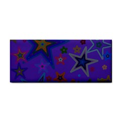Purple Christmas Party Stars Hand Towel