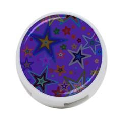 Purple Christmas Party Stars 4-Port USB Hub (Two Sides)