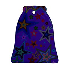 Purple Christmas Party Stars Bell Ornament (2 Sides)
