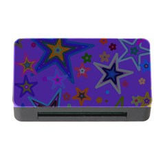 Purple Christmas Party Stars Memory Card Reader with CF