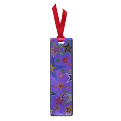 Purple Christmas Party Stars Small Book Marks