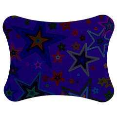 Purple Christmas Party Stars Jigsaw Puzzle Photo Stand (Bow)