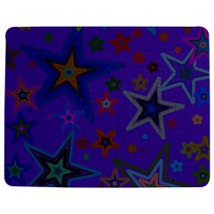 Purple Christmas Party Stars Jigsaw Puzzle Photo Stand (Rectangular)