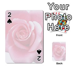 Pink White Love Rose Playing Cards 54 Designs