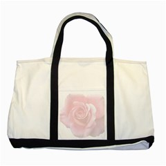 Pink White Love Rose Two Tone Tote Bag