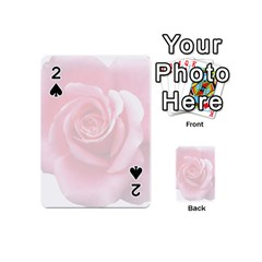 Pink White Love Rose Playing Cards 54 (mini)