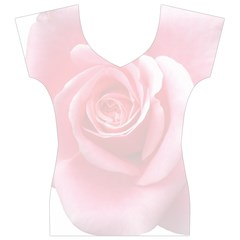 Pink White Love Rose Women s V-Neck Cap Sleeve Top