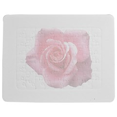 Pink White Love Rose Jigsaw Puzzle Photo Stand (Rectangular)