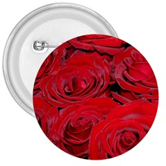 Red Love Roses 3  Buttons