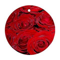 Red Love Roses Ornament (Round)