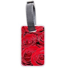Red Love Roses Luggage Tags (Two Sides)
