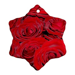 Red Love Roses Ornament (snowflake)