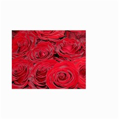 Red Love Roses Small Garden Flag (Two Sides)