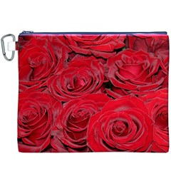 Red Love Roses Canvas Cosmetic Bag (XXXL)