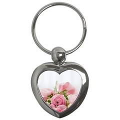 Romantic Pink Flowers Key Chains (Heart)