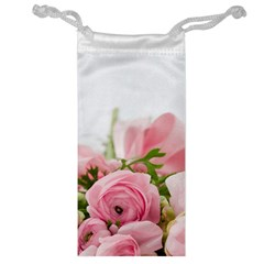 Romantic Pink Flowers Jewelry Bags