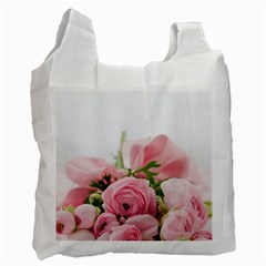 Romantic Pink Flowers Recycle Bag (One Side)