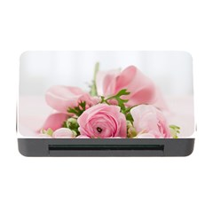 Romantic Pink Flowers Memory Card Reader with CF